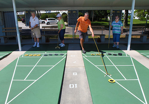 Shuffleboard at On top of the World Clearwater.